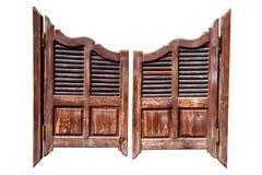 Старые двери салона Стоковое Фото