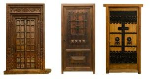 Старые двери установили 10 Стоковые Фотографии RF
