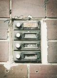 Старые дверные звоноки дома Стоковые Фото