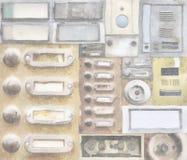 Старые дверные звоноки Стоковые Фото