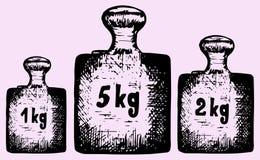 Старые весы тарировки стоковое фото