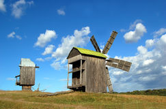 старые ветрянки деревянные Стоковые Изображения