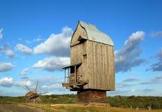 старые ветрянки деревянные Стоковое Изображение RF