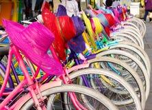 Старые велосипеды арендные Стоковые Фото