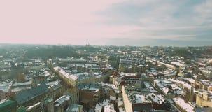 Старые движения 4K летания улицы города видеоматериал
