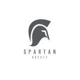 Старые винтажные антиквариаты спартанский ратник и хоккейная клюшка иллюстрация вектора