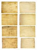 Старые винтажные бумажные установленные знамена Стоковые Изображения RF