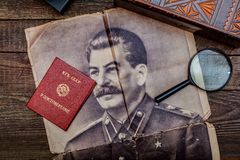 Старые винтажные вещи советского периода Стоковые Фотографии RF