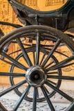 Старые винтажные колеса экипажа Стоковое фото RF