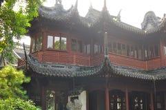Старые висок бога города и сад Yuyuan в Шанхае Стоковые Фотографии RF