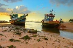 Старые военные корабли Стоковое Изображение