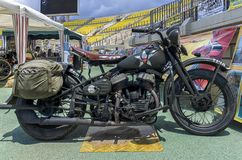Старые войска вводят Harley в моду Davidson стоковая фотография