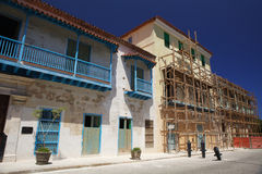 Старые восстановленные квартиры havana Стоковые Фото
