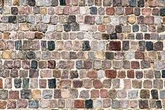 Старые восстановленные средневековые stonewall предпосылка текстуры Стоковые Фото