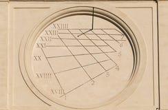 Старые времена и солнечные часы стоковые изображения