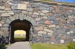 Старые вход и стена городища Стоковое Изображение RF