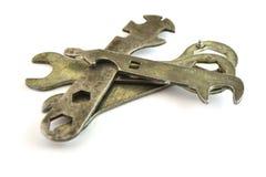старые гаечные ключа Стоковое Фото