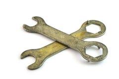 старые гаечные ключа Стоковое Изображение