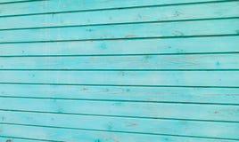 Старые голубые деревянные планки текстурируют стену для дизайна горизонтального Востока стоковое фото rf