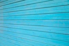 Старые голубые деревянные планки текстурируют стену для дизайна стоковые изображения