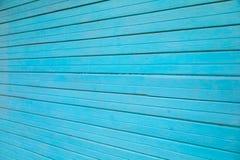 Старые голубые деревянные планки текстурируют стену для дизайна горизонтального Востока стоковая фотография rf