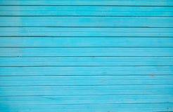 Старые голубые деревянные планки текстурируют стену для дизайна горизонтального Востока стоковые фото