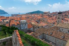 Старые городок и крепость Дубровника, Хорватии стоковое изображение rf