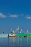 Старые города и гавань Стоковые Фотографии RF