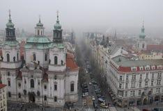 Старые городская площадь или часы в Праге в чехии Стоковые Фотографии RF