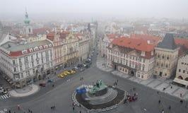 Старые городская площадь или часы в Праге в чехии Стоковое фото RF