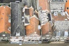 Старые голландские дома в Делфте Стоковые Изображения RF