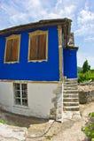 Старые греческие дома сделанные камня на острове Thassos Стоковая Фотография RF
