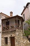 Старые греческие дома сделанные камня на острове Thassos Стоковые Изображения
