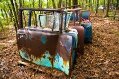 Старые двери автомобиля стоковое изображение rf