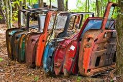 Старые двери автомобиля стоковое фото rf
