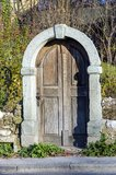 Старые двери все еще стоя Стоковая Фотография RF