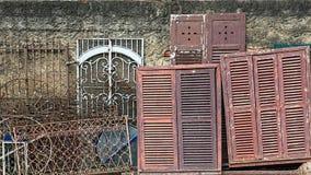 Старые двери, окна и рамки Стоковая Фотография