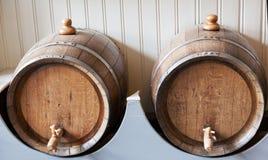 Старые деревянные бочонки Стоковые Фотографии RF