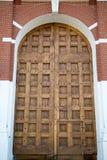 Старые деревянные ворота башни Spasskaya Москвы Кремля стоковое изображение rf