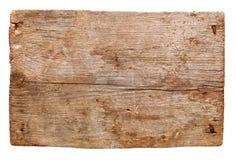 Старые деревянные доски изолированные на белой предпосылке близко опорожните подпишите вверх деревянное Стоковые Изображения