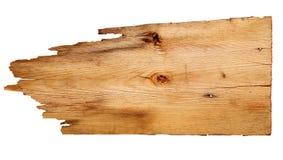 Старые деревянные доски изолированные на белой предпосылке закройте вверх пустого деревянного знака с путем клиппирования Стоковое фото RF