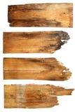 Старые деревянные доски изолированные на белой предпосылке закройте вверх e стоковое фото rf