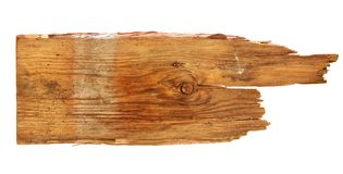 Старые деревянные доски на белой предпосылке близко опорожните подпишите вверх деревянное Стоковое Изображение RF