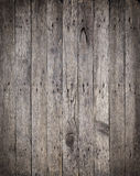 Старые деревянные доски с ржавой предпосылкой ногтей Стоковое фото RF