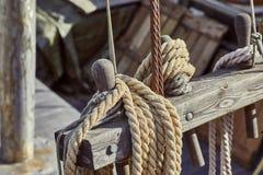 Старые детали шлюпки Стоковые Фото