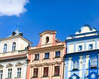 Старые дома Прага Стоковая Фотография
