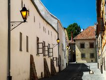 Старые дома - старая улица - старомодное настроение Стоковое Изображение RF