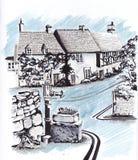 Старые европейские дома иллюстрация вектора