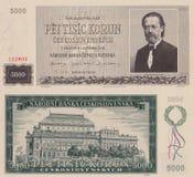Старые деньги - чех 5000 Стоковое Изображение RF