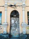 Старые деревянные двери в старом доме, городе Киева Стоковое Фото